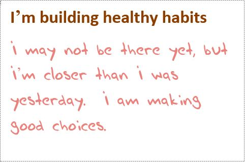 habits making choices