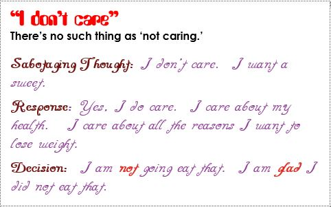 response i dont' care